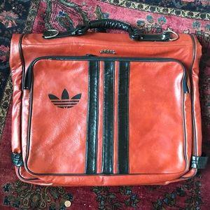 HANGING Adidas Vintage Leather Travel Bag